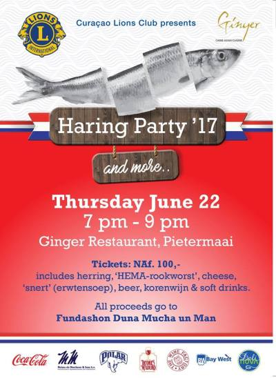 Lions Club Haring Party at Ginger Curacao
