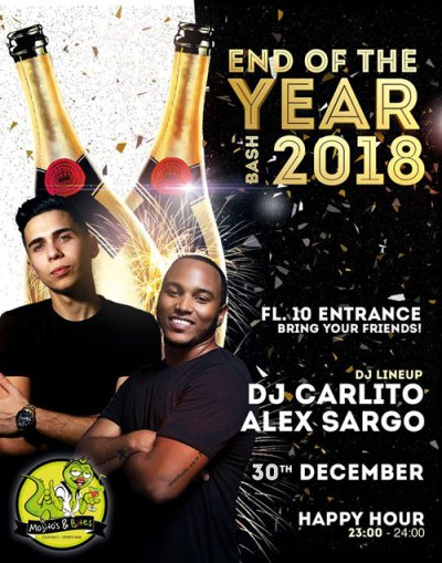 End of the Year Bash at Mojitos and Bites Curacao