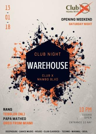 Warehouse with Cafe del Mar at Club X Mambo Curacao