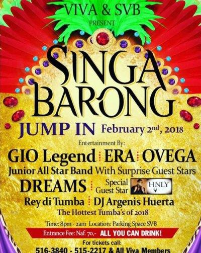 Singa Barong Jump-in at SVB Curacao