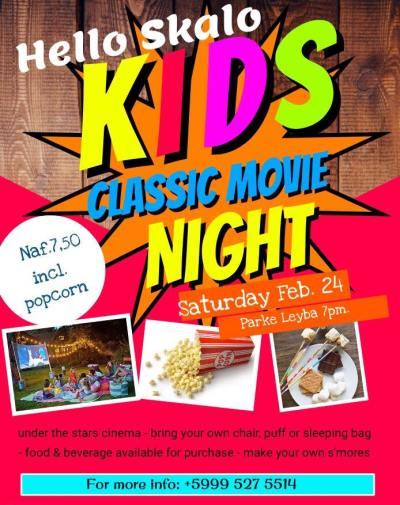 Hello Skalo Kids Movie night in Scharloo Curacao
