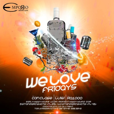 We Love Fridays at Emporio Curacao