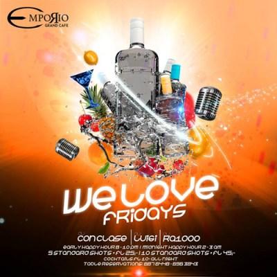 We Love Fridays at Emporio Curacao