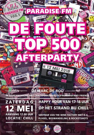 Paradise FM Foute After party at Chill Curacao