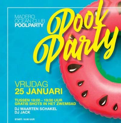 Nooit Meer Naar Huis Pool Party at Madero Ocean Club Curacao