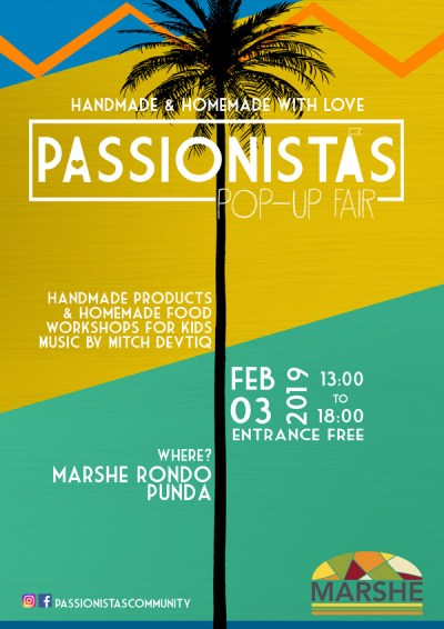 Passionistas Pop Up Fair at Marshe Nobo Curacao