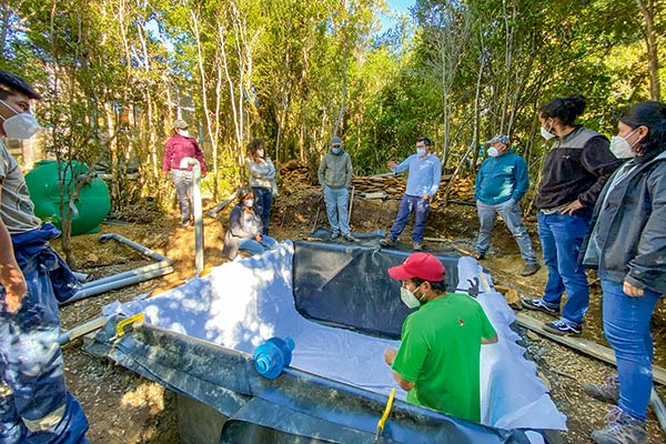 """Proyectos pilotos de """"construcción"""" de humedales buscan reutilizar aguas grises en riego"""