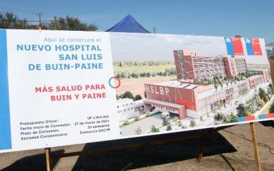 Entregan terreno para la construcción de nuevo Hospital San Luis de Buin-Paine