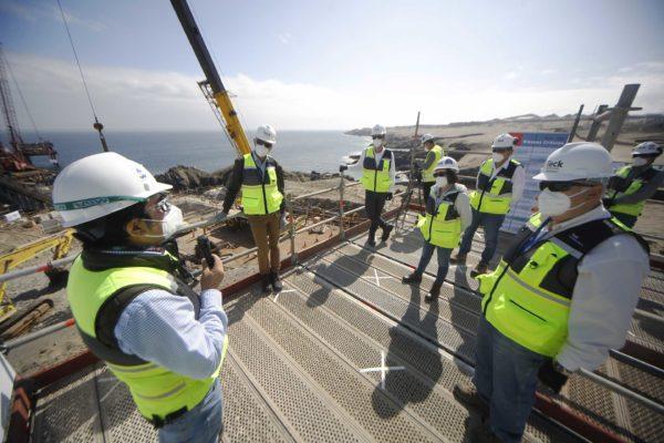 Biministro de Minería y Energía visitó puerto y planta desaladora en construcción de Quebrada Blanca Fase 2 en Iquique