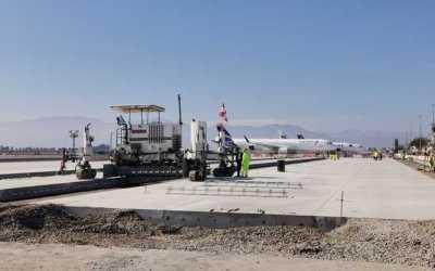 Un 65% de avance presentan trabajos de reposición en Aeródromo La Florida