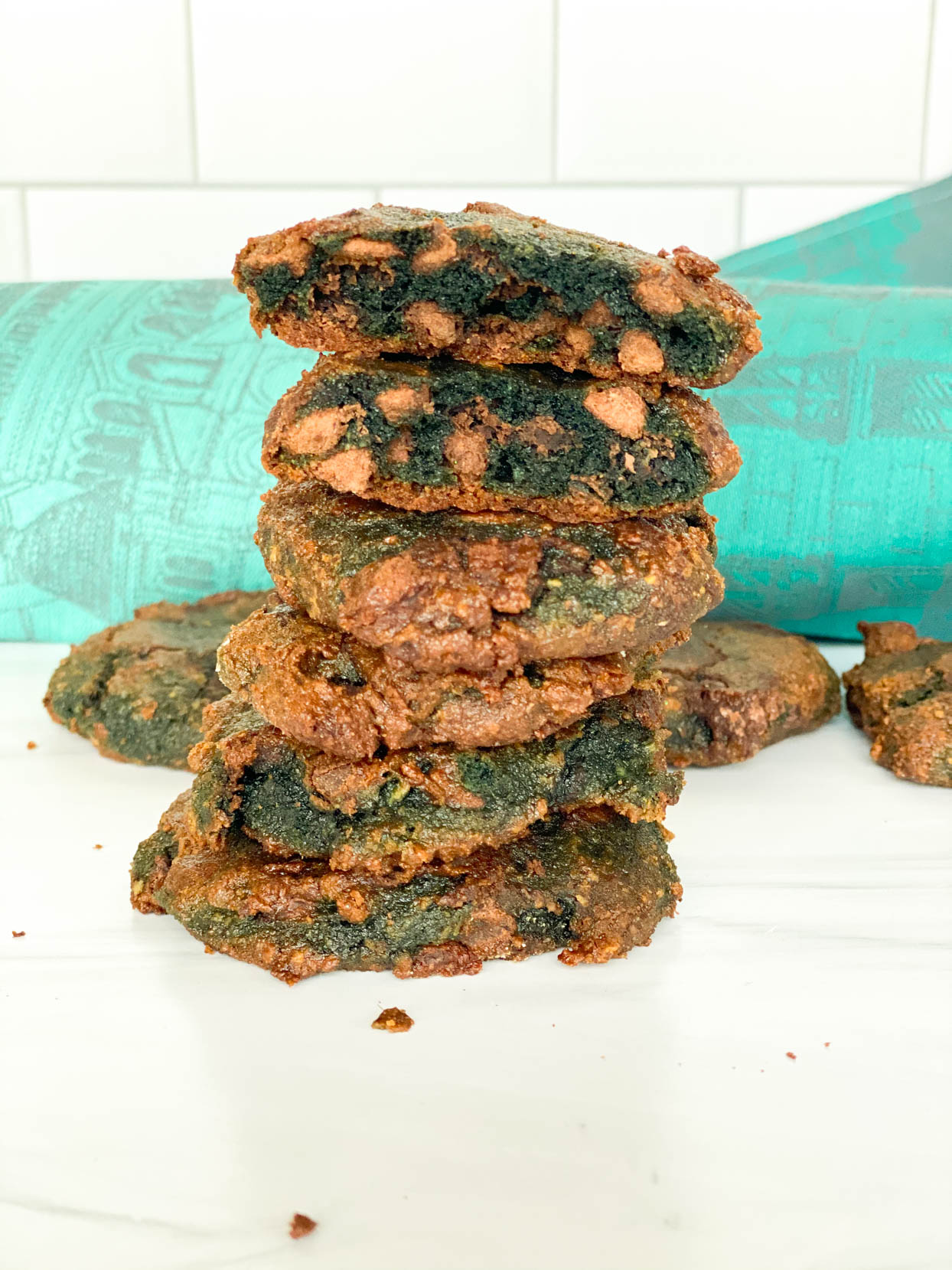 St. Patrick's Day Green Chocolate Chip Cookies