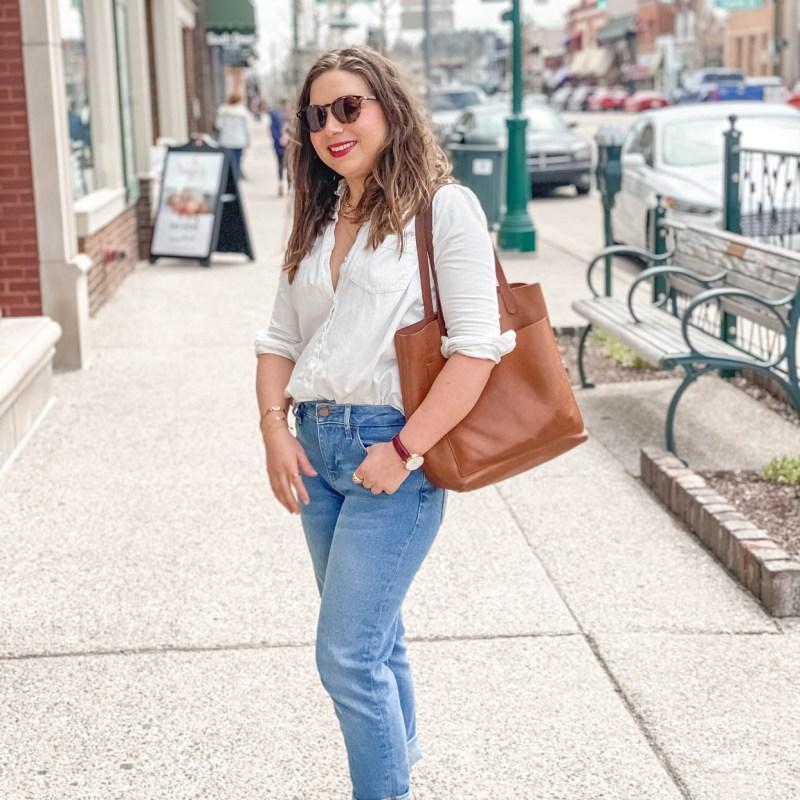 Oversized Boyshirt and Girlfriend Jeans