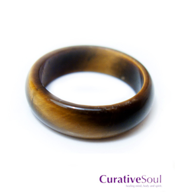 Tiger Eye Ring Band Curative Soul Healing Mind Body