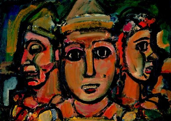 Georges Rouault- Les Trois Clowns