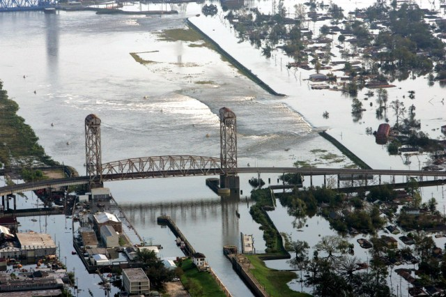 FLOODWATERS LEVEE