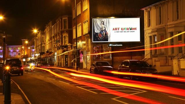 Art Everywhere Billboard featuring the work of Edward Hopper