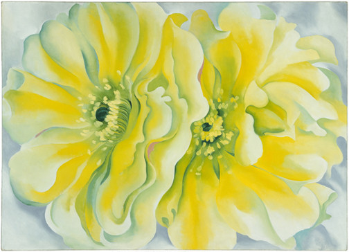 Georgia O'Keeffe (1887–1986), Yellow Cactus, 1929 Oil on canvas, 30 x 42 in. Dallas Museum of Art, Texas Patsy Lucy Griffith Collection, Bequest of Patsy Lucy Griffith. 1998.217. (O'Keeffe 675) © Copyright 2014 Georgia O'Keeffe Museum. Image courtesy International Arts®