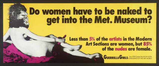 Guerrilla Girls [no title], 1985–90 Screenprint on paper 280 x 710 mm Tate Collection
