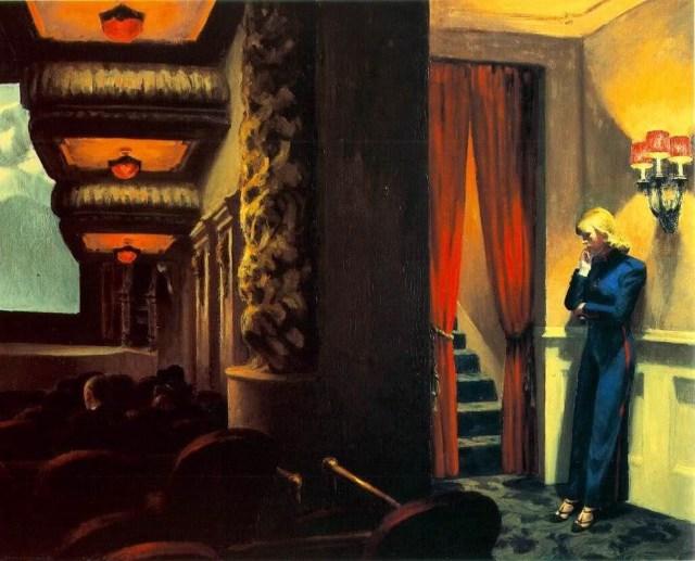 New York Movie, Edward Hopper, 1939, oil, canvas