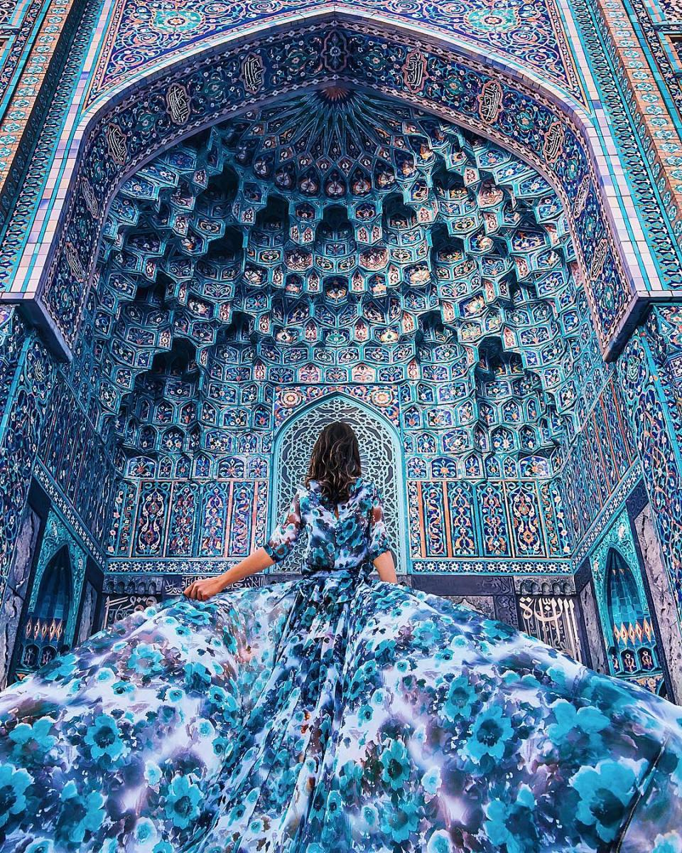 flowing dresses in the world's most beautiful places make for magical photoshoots