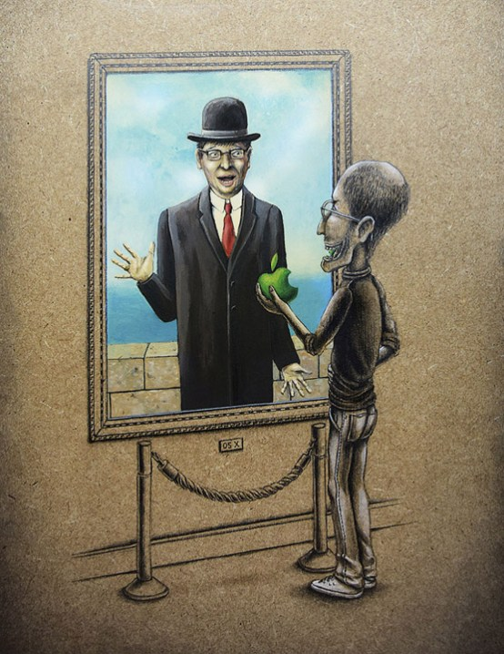the son of man, rene magritte, french artist, pez, pop culture illustrations, famous art, classic art