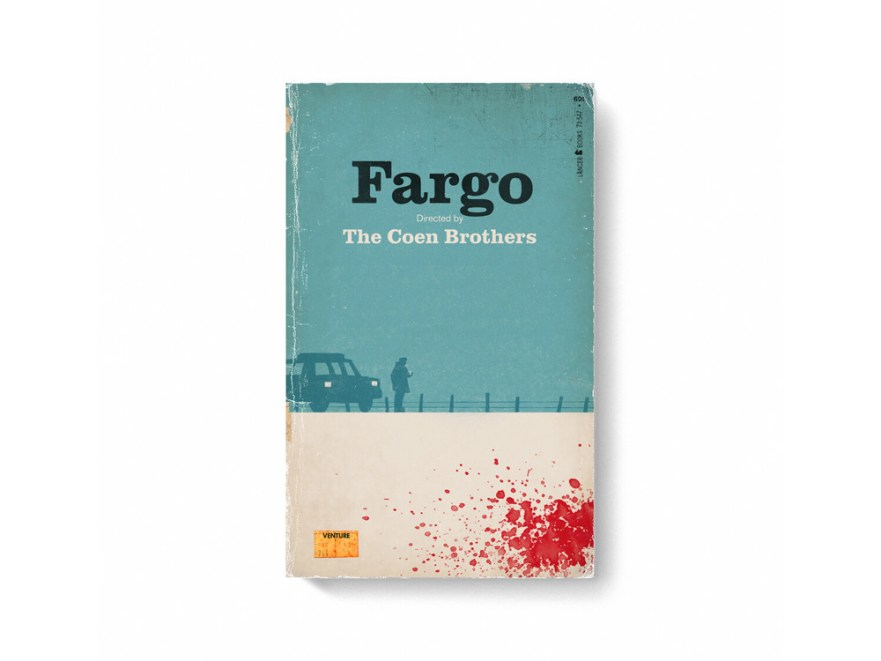 movie posters, book cover designs, blockbuster movies, fargo movie poster