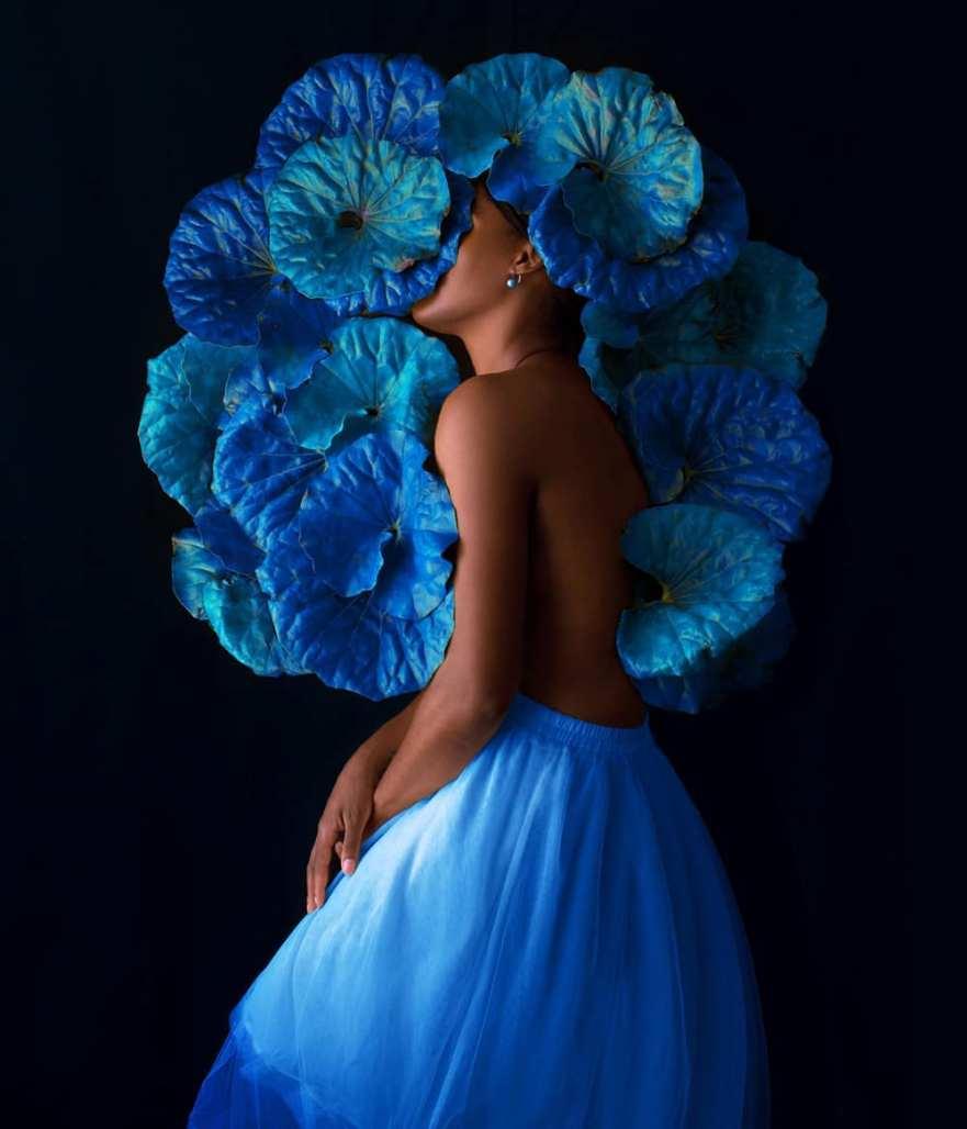self portraits flower photography spanish photographer saatchi art