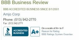 Amjo Corp BBB A Plus Rating