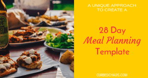 Create a Meal Planning Template