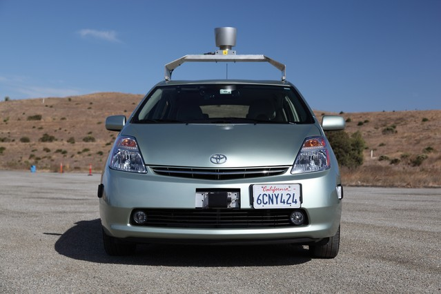 A driverless car, not hopelessly lost