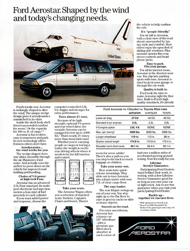 curbside classic 1995 ford aerostar how hard can it be to make a rh curbsideclassic com Lifted Ford Aerostar Ford Aerostar Van