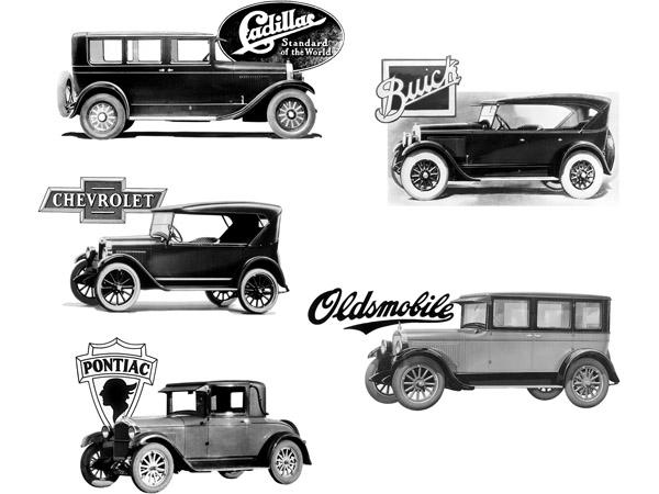 GM 1920s cars