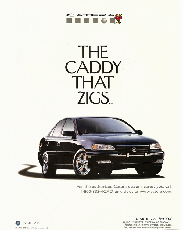 Automotive History 19972001 Cadillac Catera – Caddy's Dead Duck