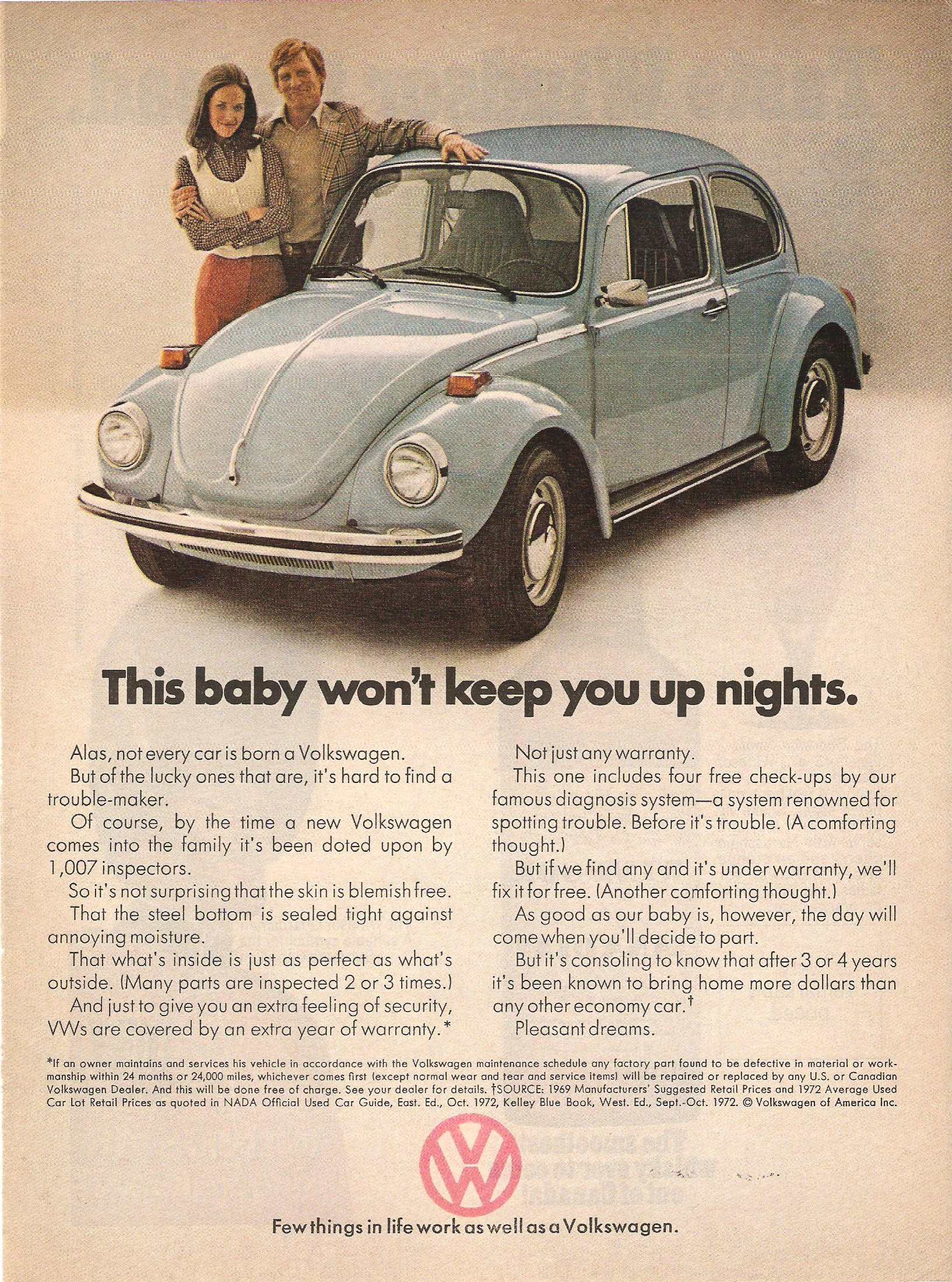 vw advertising   seventies  classic ddb    direction