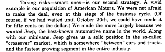 Crossover Steffenpp, Christopher J. 1989. The Auto Industry Today Tough Times Demand Change In Arnesen, Peter Judd. The Auto industry ahead who's driving. Center for Japanese Studies, The University of Michigan. p. 47.