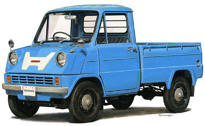 Automotive History Hondas Wild 9000 RPM Mid Engine T360 Pickup Of 1963