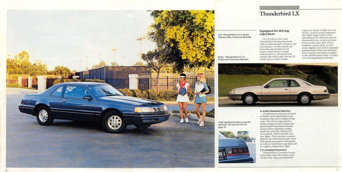 1988 Ford Thunderbird Brochure Sport//LX//Turbo Mint!