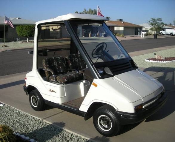 Fairway Clic: Yamaha G-5 Sun Clic – The Brougham Golf Cart? on