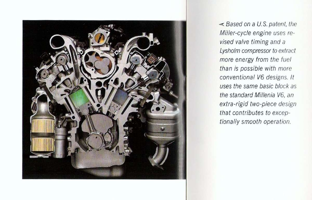 Well, the S came equipped with the 2.3-liter Miller-cycle V6–a very  atypical power plant, even for rotary-loving Mazda.