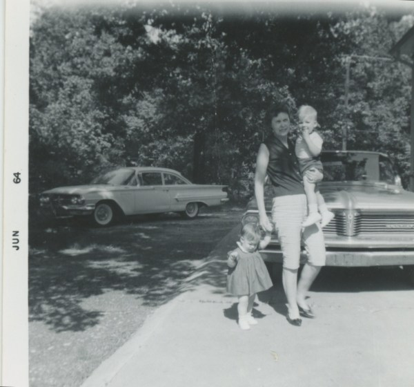 Granny, Ed, Angie - driveway in Hapeville
