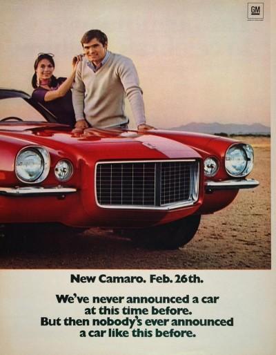1970 Camaro Ad