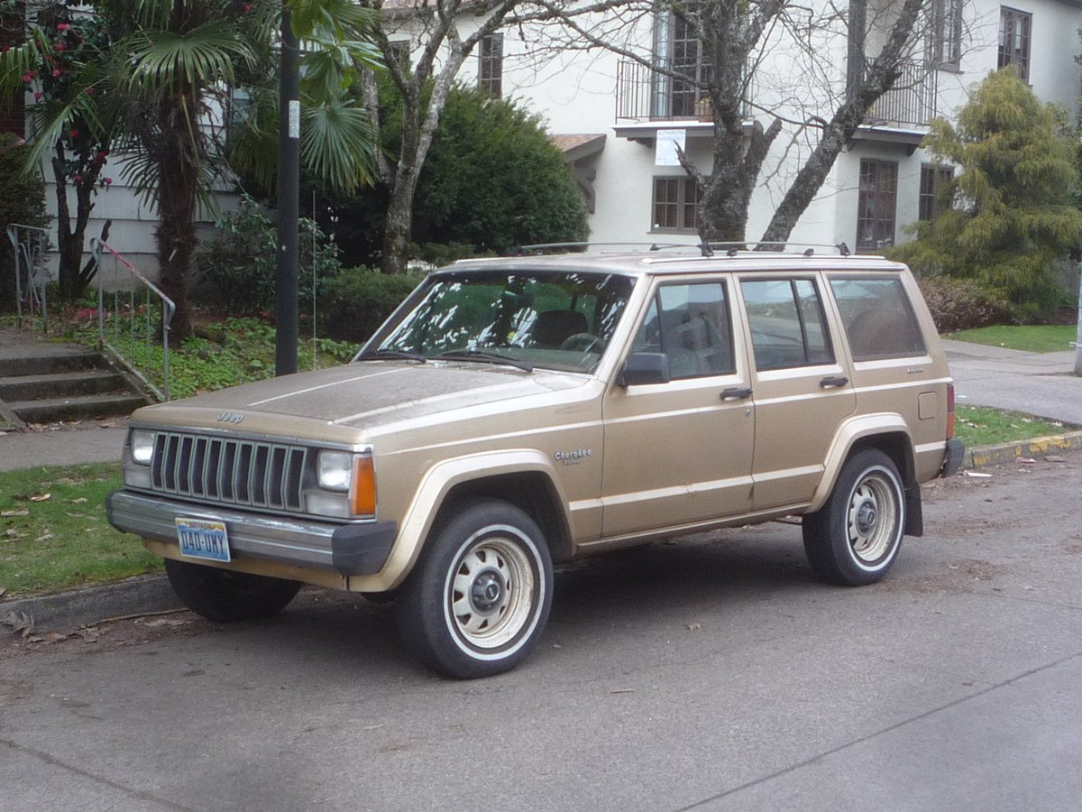 curbside classic 1984 jeep cherokee \u2013 amc\u0027s greatest hit, thanks to