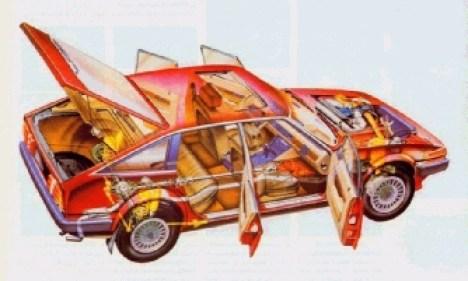 Rover SD1 cutaway