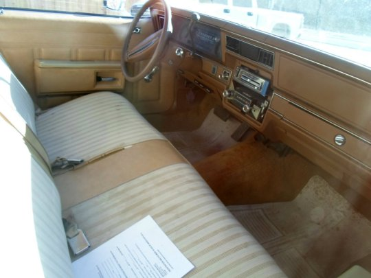 1977 Chevrolet Bel Air interior
