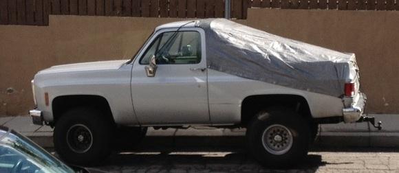 Blazer with tarp