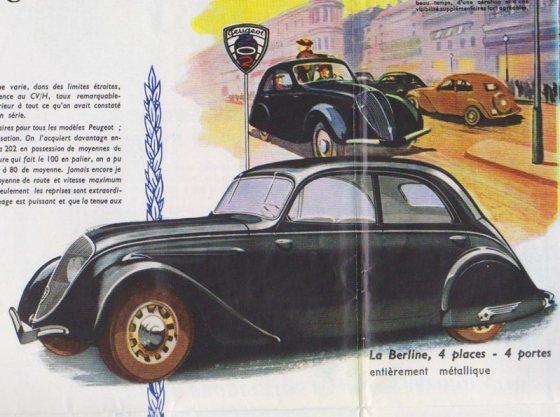 Peugeot 202 1939 Brochure Berline 800