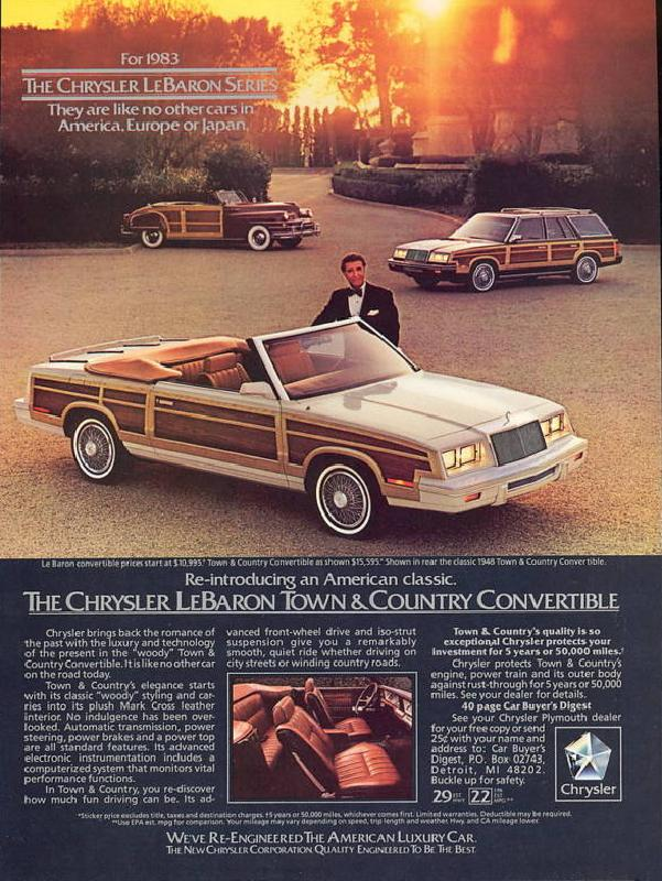 Curbside Classic 1986 Chrysler Lebaron Town Amp Country
