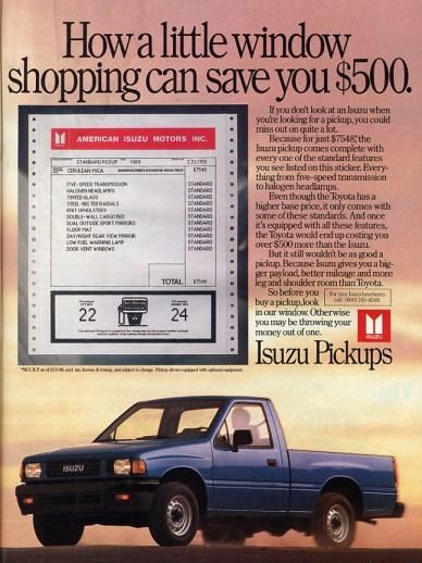 1990IsuzuPickupAd