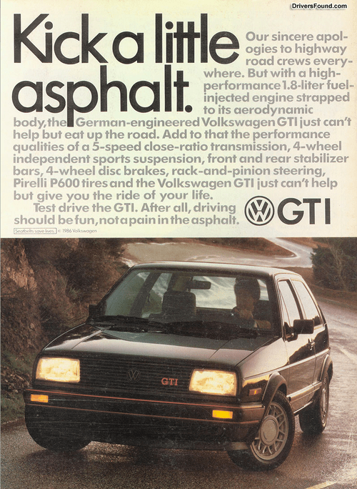 Coal 1986 Vw Gti Kick A Little Asphalt