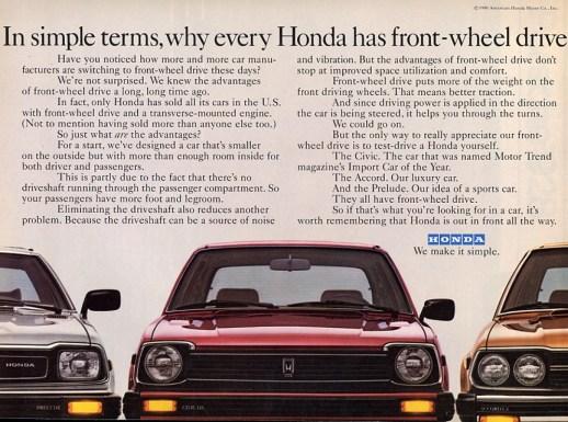 Honda ad 1980